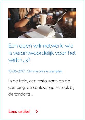 Een open wifi netwerk wie is verantwoordelijk voor het gebruik