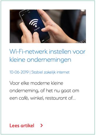 Wi-Fi-netwerk instellen voor kleine ondernemingen