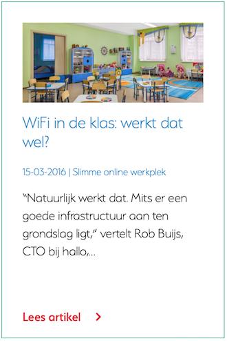 WiFi in de klas: werkt dat wel?
