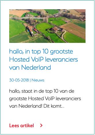 hallo, in top 10 grootste Hosted VoIP leveranciers van Nederland