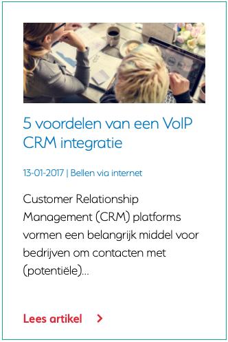 5 voordelen van een VoIP CRM integratie