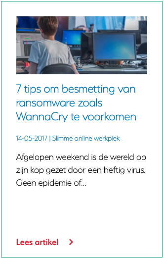 7 tips om besmetting van ransomware zoals WannaCry te voorkomen