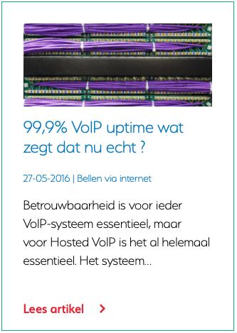 99,9% VoIP uptime wat zegt dat nu echt?