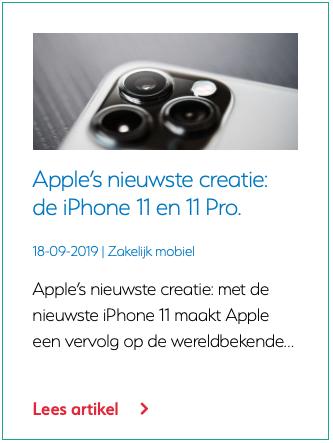 Apple's nieuwste creatie de iPhone 11 en 11 Pro