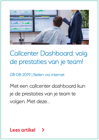 Callcenter Dashboard volg de prestaties van je team!