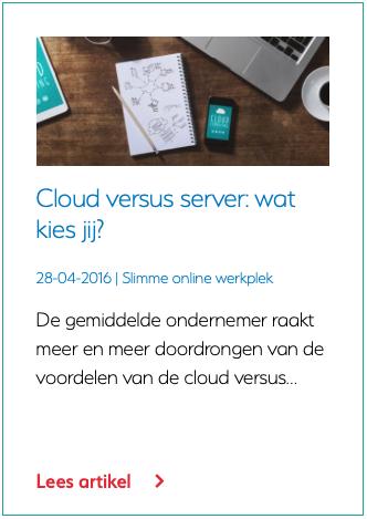 Cloud versus server wat kies jij?