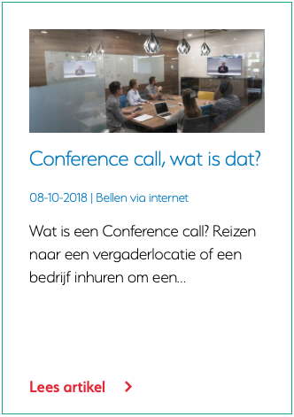 Conference call, wat is dat?