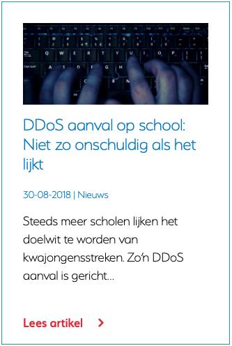 DDoS aanval op school Niet zo onschuldig als het lijkt