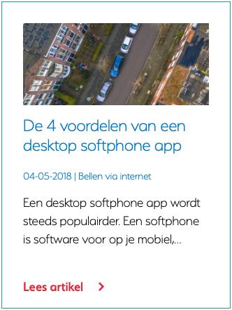 De 4 voordelen van een desktop softphone app