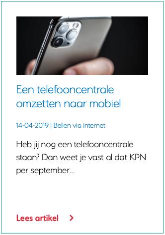 Een telefooncentrale omzetten naar mobiel