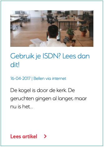 Gebruik je ISDN? Lees dan dit!