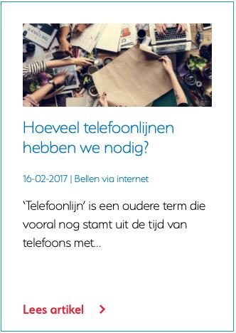 Hoeveel telefoonlijnen hebben we nodig?
