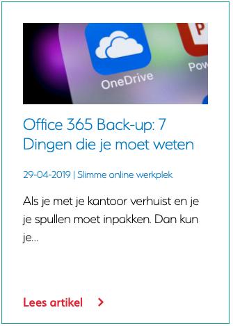 Microsoft 365 Back-up 7 Dingen die je moet weten