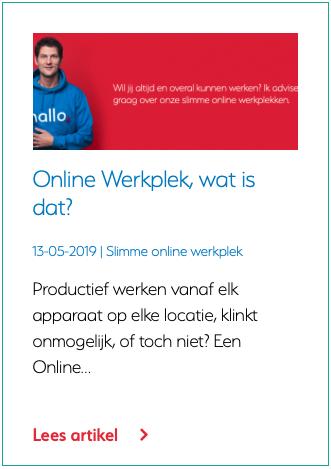 Online Werkplek, wat is dat?