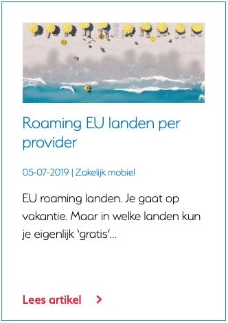 Roaming EU landen per provider