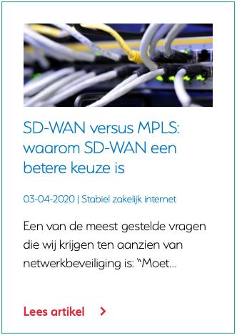 SD-WAN versus MPLS waarom SD-WAN een betere keuze is
