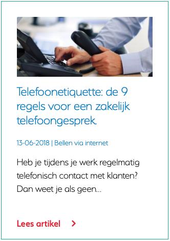 Telefoonetiquette de 9 regels voor een zakelijk telefoongesprek.