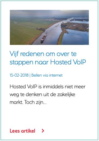 Vijf redenen om over te stappen naar Hosted VoIP