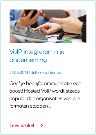 VoIP integreren in je onderneming