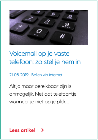 Voicemail op je vaste telefoon zo stel je hem in
