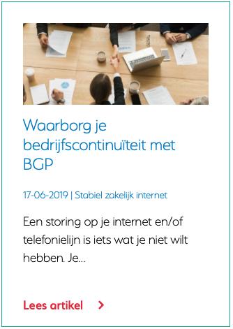 Waarborg je bedrijfscontinuïteit met BGP