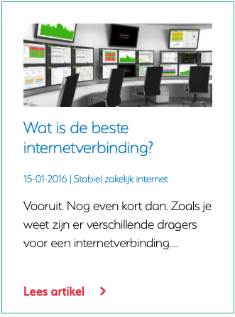 Wat is de beste internetverbinding?