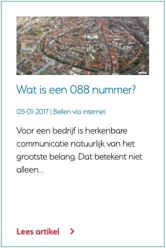 Wat is een 088 nummer?