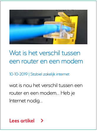 Wat is het verschil tussen een router en een modem