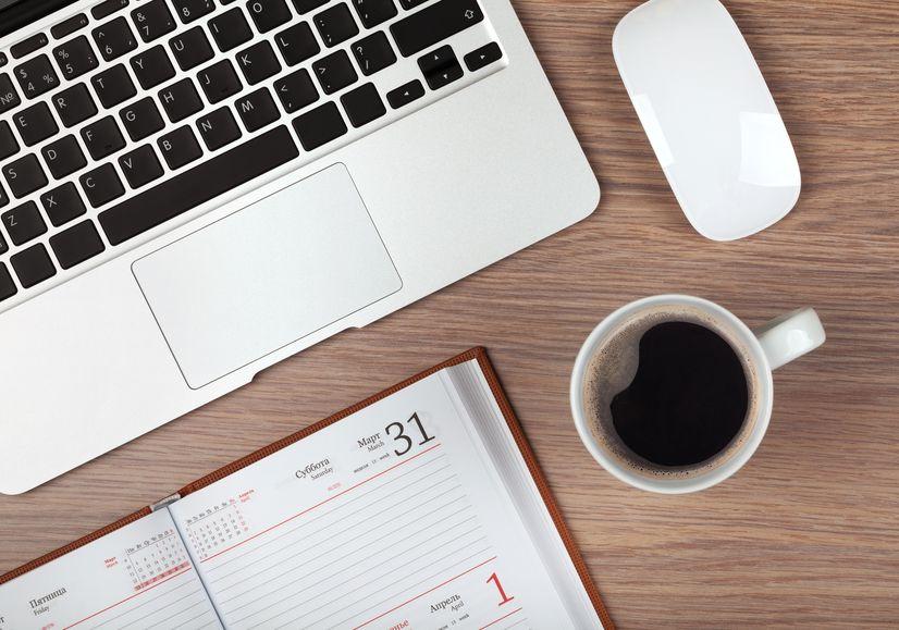 werkplek, zakelijk, laptop, online, werken