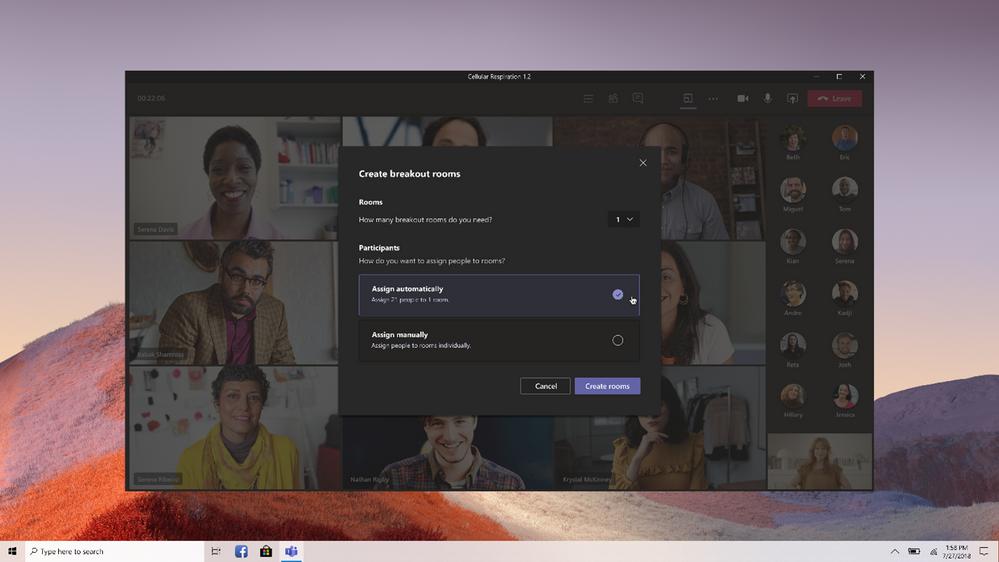 Microsoft Teams Breakout room - Header